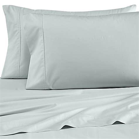 wamsutta sheets buy wamsutta 174 dream zone 174 percale 500 thread count twin sheet set in sea glass from bed bath