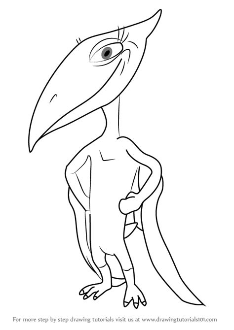 learn   draw shiny pteranodon  dinosaur train