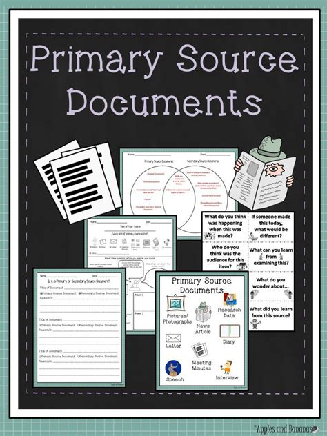 primary source documents activities  worksheets