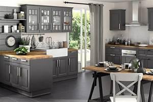 Table De Cuisine Grise : meuble gris cuisine mobilier design d coration d 39 int rieur ~ Teatrodelosmanantiales.com Idées de Décoration