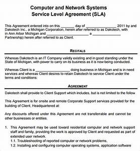 sample service agreement template 6 free documents With computer repair service agreement template
