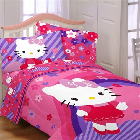 cute  kitty bedding sets  girls