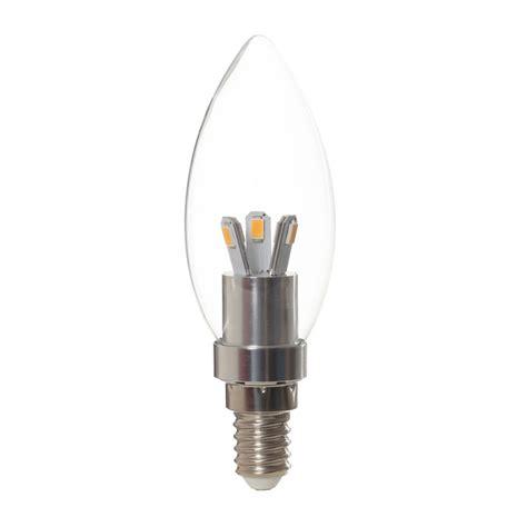 E14 Led lamp 3watt kaarslamp transparant (vervangt 20watt
