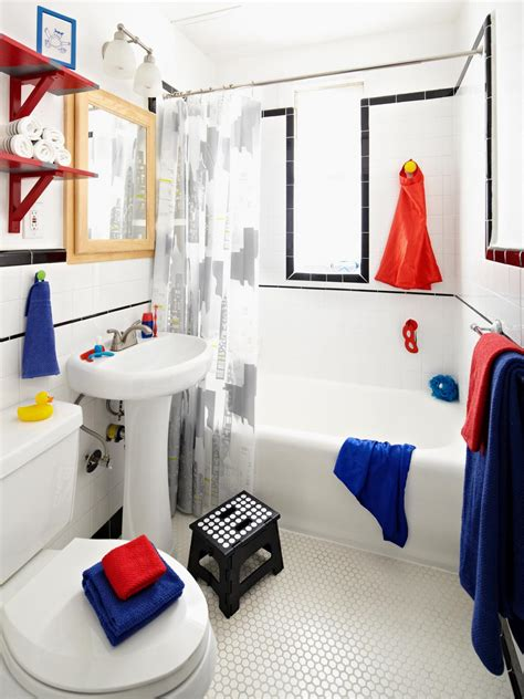 Superheroinspired Boys' Bathroom  Diy Bathroom Ideas
