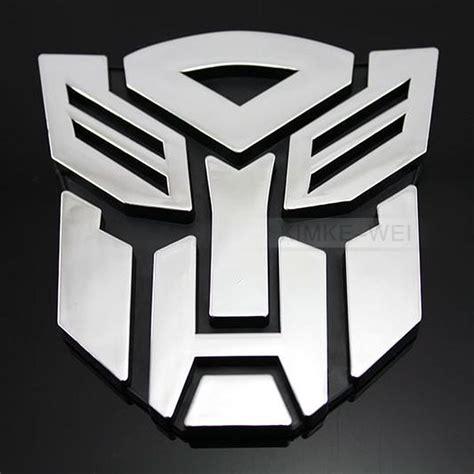 sticker stiker transformer 3 transformers autobot 3d logo emblem badge decal car