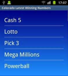Colorado Lottery Powerball Winning Numbers