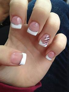 Acrylic french tip nail | Nail Art | Pinterest | Acrylics ...