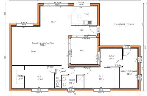 plan maison moderne 5 chambres plan de maison 2 chambres 60 m plan de maison plan