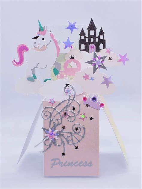 unicorn pop  handmade birthday unique card
