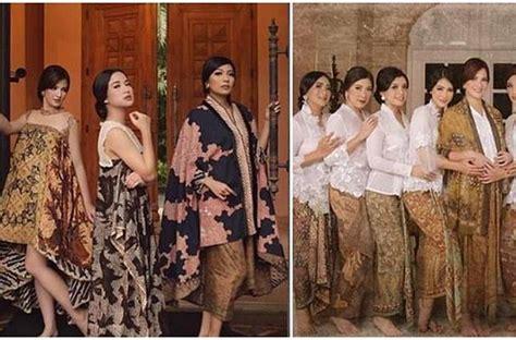 koleksi busana batik mewah geng sosialita nia ramadhani