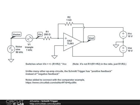Schmitt Trigger Circuitlab