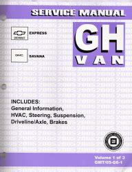 service repair manual free download 2005 chevrolet express 2500 engine control 2005 gmc chevrolet express savana van factory service manual