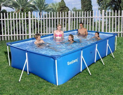frame pool rechteckig bestway family splash frame pool 400x211x81cm 56405