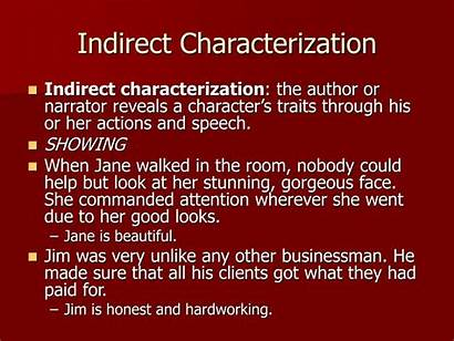Indirect Characterization Direct Character Speech Presentation Actions