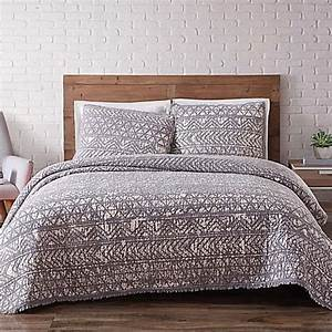 Brooklyn loom sand washed reversible quilt set bed bath for Brooklyn loom bedding