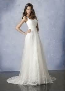wedding dress with simple a line wedding dress with straps ipunya