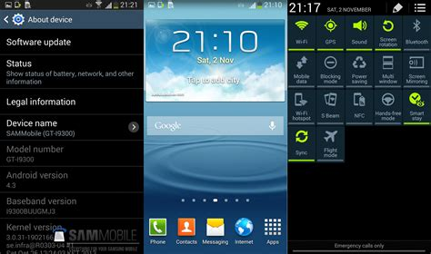 Samsung Galaxy S3 Android 4.3 Firmware Leaked