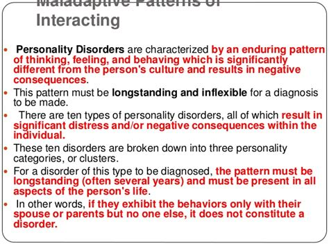Personality Disorder Application And Trend
