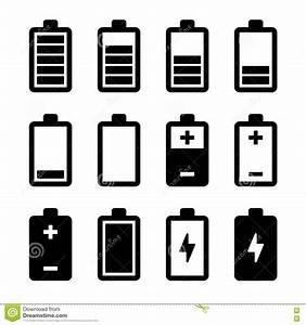 Battery Icons Set Stock Photo