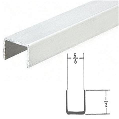 crl white series 3601 side jamb channel for sliding screen