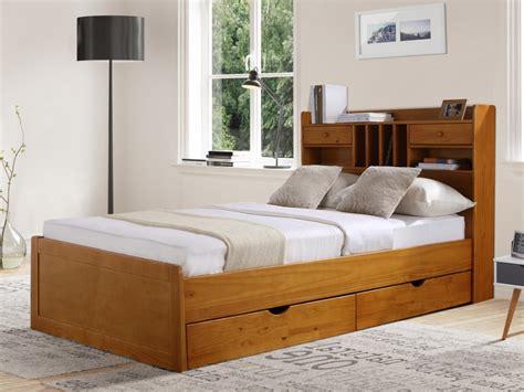 canape de jardin en bois lit mederick avec rangements 140x190 pin massif