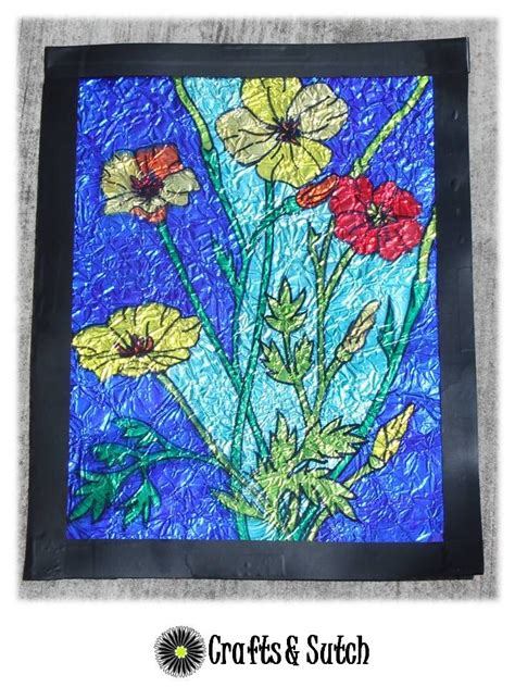 faux stained glass  permanent markers  aluminum