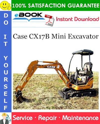 case cxb mini excavator service repair manual
