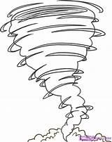 Hurricane Coloring Tornado Craft sketch template