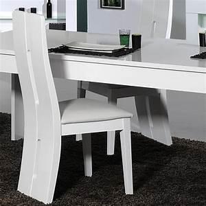Chaise De Salle A Manger Blanche : chaise floyd blanche meuble de salon contemporain ~ Voncanada.com Idées de Décoration