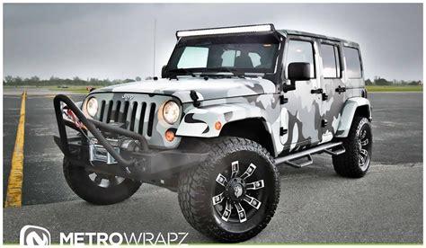 camo jeep yj metro wrapz shows off camo wrapped jeep wranglers