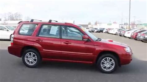 subaru forester red 2006 subaru forester red red stock 7514a walk around