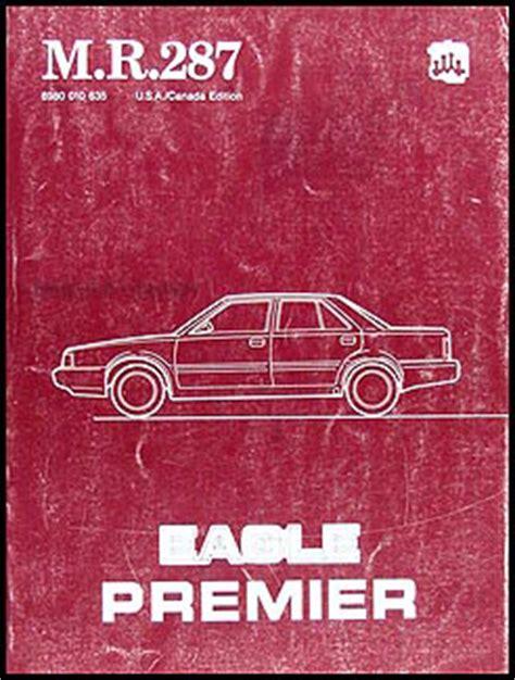 service and repair manuals 1992 eagle premier free book repair manuals 1988 eagle premier repair shop manual original m r 287