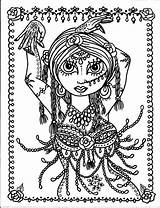 Coloring Pages Belly Dance Dancer Anime Chibi Mermaid Adult Colouring Gothic Adults Chubby Digital Digi Dancers Instant Printable Etsy Sold sketch template