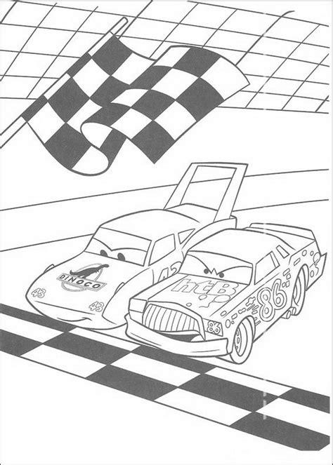 kleurplaat en een plaatje van cars kinderspeelpleinnl