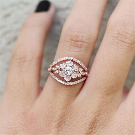 ideas  flower diamond rings  pinterest