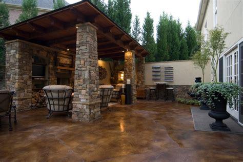 stained concrete patio designs ideas design trends