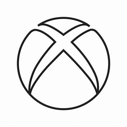 Xbox Icon Microsoft Computer Play Coloring Pages