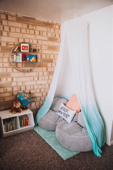 cute canopy reading nook inspiration  small room