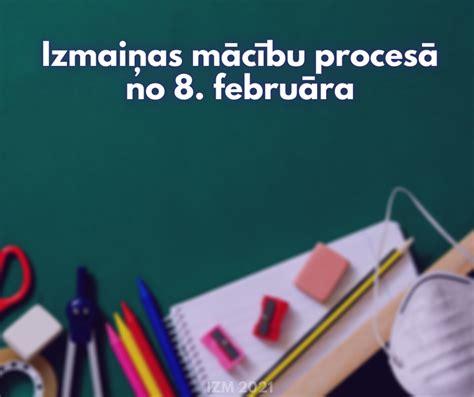 Izmaiņas mācību procesā no 8.februāra - Jelgavas Valsts ...