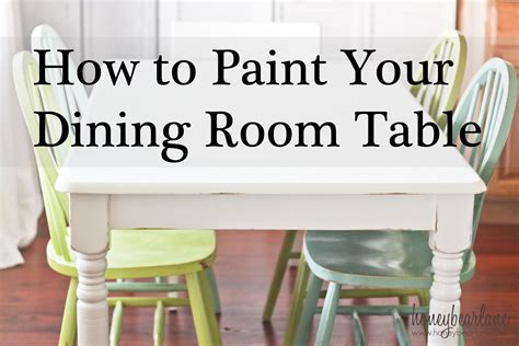 Painting The Dining Room Table A Survivor 39 S Story