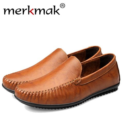 Merkmak Luxury Business Men Loafer Shoes Fashion Casual