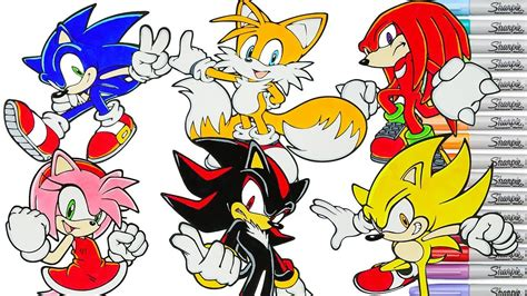 Sonic The Hedgehog Coloring Book Pages Compilation Tails