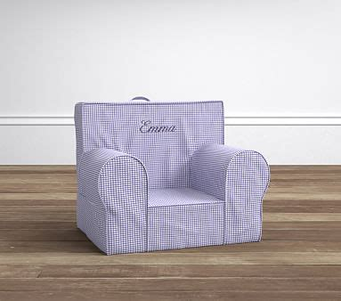 lavender rainbow anywhere chair pottery lavender gingham my anywhere chair pottery barn