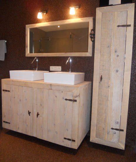 steigerhouten kastje badmeubel badkamermeubel steigerhout
