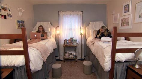 college students decked   dorm room