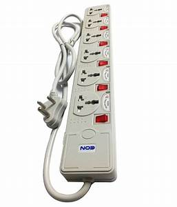 Eon 6 Socket 6 Switch Surge Protector Extension Board Cord Spike Guard Spike Buster 1 5 Meter