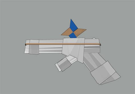Make A Paper Gun That Shoots