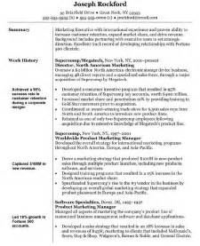 marketing summary exle resume marketing director resume sle