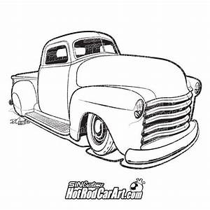 drawn truck hot rod truck pencil and in color drawn With 1952 ford pick up