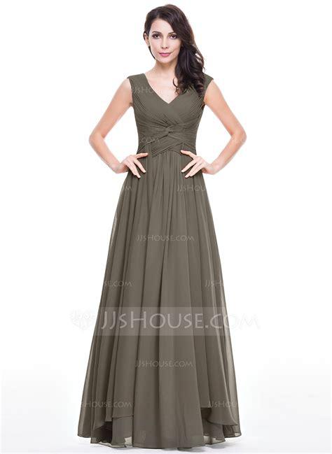 lineprincess  neck floor length chiffon evening dress